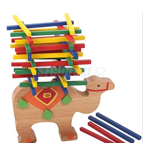 MAZIMARK--Wooden Educational Camel Balance Beam Game For Children Kids Hands Learning by MAZIMARK