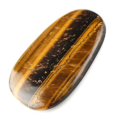 Jaguar Gems – 170 Carats Natural Tiger Eye Palm Stone Gemstone Crystals Cabochon, DIY Making Jewelry, Lapis Lazuli Gemstone Crystals