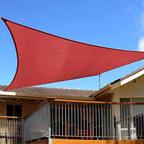 8 x10 Rectangle Sun Shade Sails Canopy Rust Red, 185GSM Shade Sail UV Block for Patio Garden Outdoor Facility and Activities