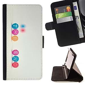 For Sony Xperia Z3 D6603 Case , Citar Texto Inspiring dulce- la tarjeta de Crédito Slots PU Funda de cuero Monedero caso cubierta de piel