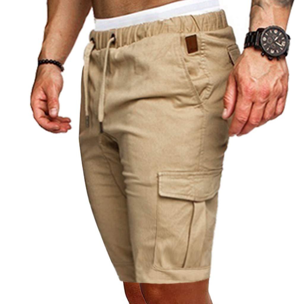 Yebiral Pantalones Cortos Hombre Verano Pantalones Deportivos Con Bolsillos Con Cordon Cintura Elastica Pantalon De Chandal Shorts Cortos Playa Ropa Activa