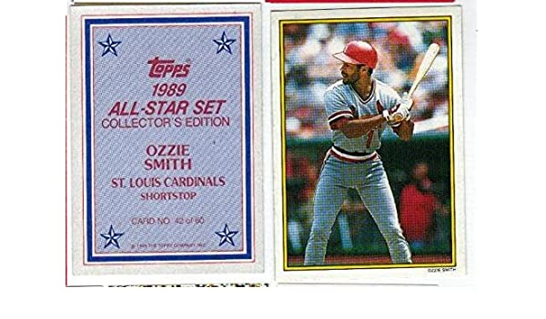 Amazoncom Ozzie Smith Glossy All Star Baseball Card Collectibles