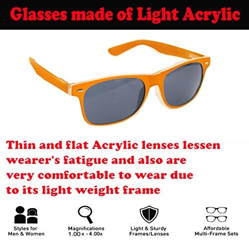 de unisex sol 4sold Bisagras naranjas de vista el Lectura primavera para Gafas leer sol FTx6BdFq