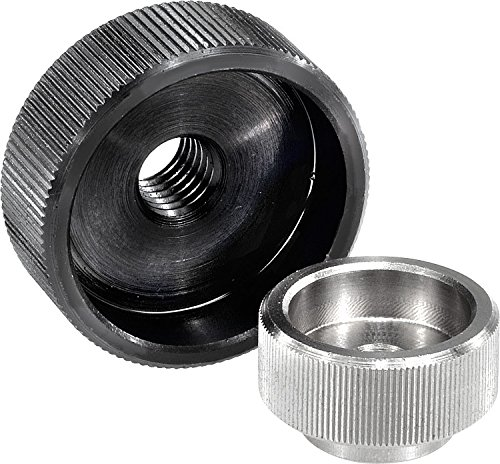 Kipp 06010-1052 Stainless Steel Knurled Nuts Without Pin Hole M5 Thread Pack of 10 Style A Metric Pack of 10 Natural Finish