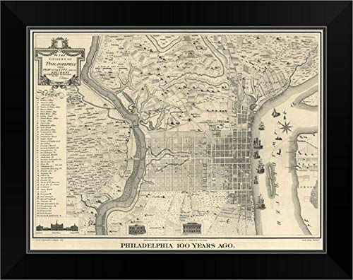 CANVAS ON DEMAND Antique Map of Philadelphia, 1875