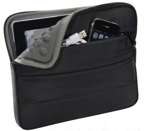 PEDEA Tablet PC Tasche schwarz für 10,1 Zoll (25,6cm) mit Zubehörfach