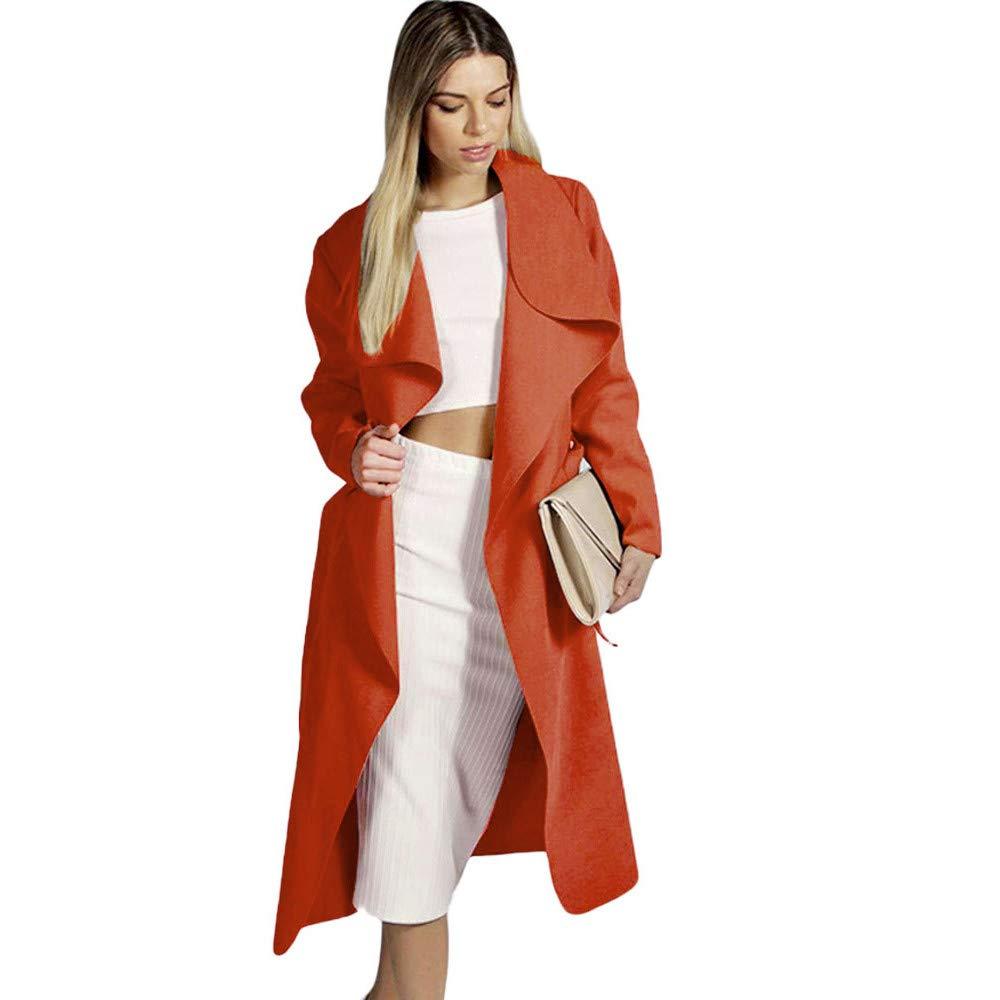 Beladla Moda Mujeres Invierno Caliente MáS Gruesos Abrigo El CinturóN Parka Sudadera con Capucha Chaqueta De Solapa Jacket Coat Sweater Sudadera: Amazon.es: ...