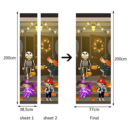 Novania Wall Stickers for Living Room Decoration Bedroom Kids Decoration Family Wall Deca Art Decoration Halloween Features Series Wall Stickers(79inch14inch) (A) -