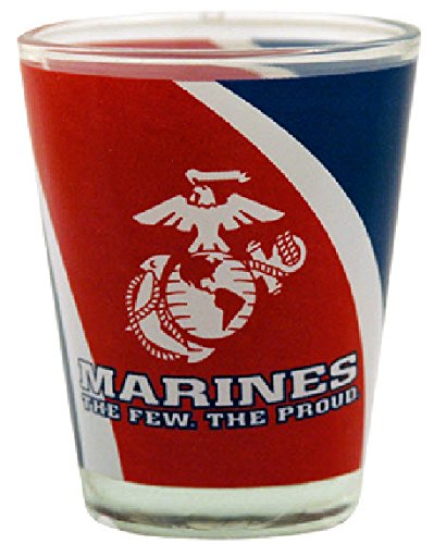 Gameday Outfitters 34746 Marines Vortex Tabletop Shot Glass, Red