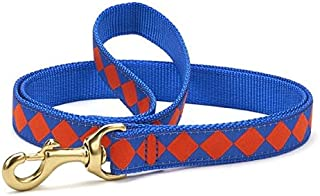product image for Up Country Blue & Orange Diamonds Dog Leash - 6 Ft Narrow