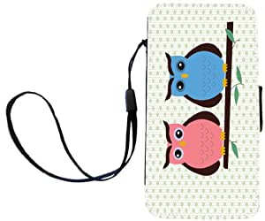 Rikki Knight LLC Owl Love You Deco Owl Flip Wallet Case with Magnetic Flap for Apple iPhone 4/4S - Non-Retail Packaging