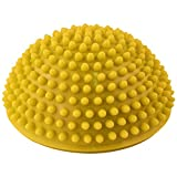 Yoga Half Ball - SODIAL(R)Yoga Half Ball Physical Fitness Appliance Exercise balance Ball point massage stepping stones balance pods GYM YoGa Pilates yellow