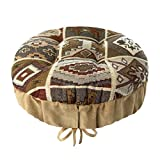 Southwest Durango Round Padded Bar Stool Cover with Adjustable Drawstring Yoke - Latex Foam Fill Barstool Cushion