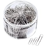 Sunmns 700 Pieces Paper Clips Paperclips 28/33/50 mm Medium Jumbo Sizes, Sliver