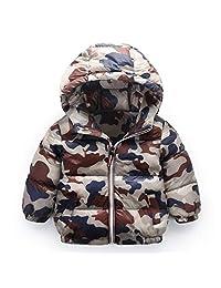Kids Winter Coat Hooded Down Jacket Puffer Coat Lightweight Padded Jacket