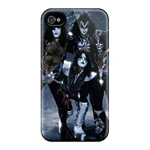 Shockproof Hard Cell-phone Cases For Apple Iphone 4/4s (JJr2498tmbH) Support Personal Customs Stylish Kiss Band Series