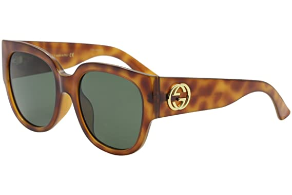 0e730f83797 Image Unavailable. Image not available for. Color  Gucci GG0142SA 002 Havana  Round Sunglasses