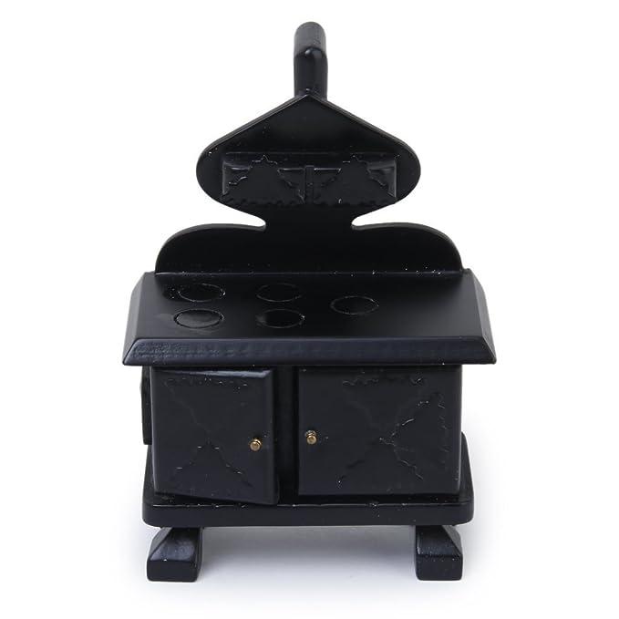 xinjiener casa de muñecas Vintage estufa madera cocina de cocina para casa de muñecas muebles decoración: Amazon.es: Hogar
