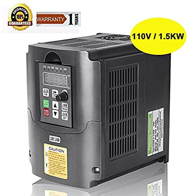 CNC 110V 1.5KW VFD Spindle Inverter 1500W Variable Frequency Drive Inverter Frequency Converter for Spindle Motor Speed Control By Beauty Star