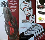 "Boys ""AVT"" Golf Club Set w460cc Driver Stand Bag and Free Putter; Teen Length, Outdoor Stuffs"