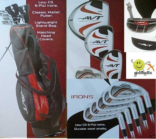 """Boys """"AVT"""" Golf Club Set w460cc Driver Stand Bag and Free Putter; Teen Length, Outdoor Stuffs"""