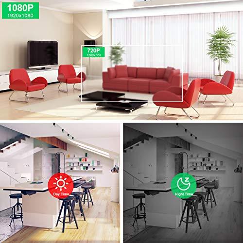 ANRAN IP Kamera WLAN 1080P Überwachungskamera, 2-Wege-Audio Baby Monitor 360° Schwenkbare Kamera mit Nachtsicht Bewegungsmelder und Vorinstallierte 32GB SD-Karte