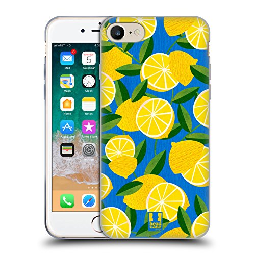 Head Case Designs Lemons Citrus Patterns Soft Gel Case Compatible for iPhone 7 / iPhone 8