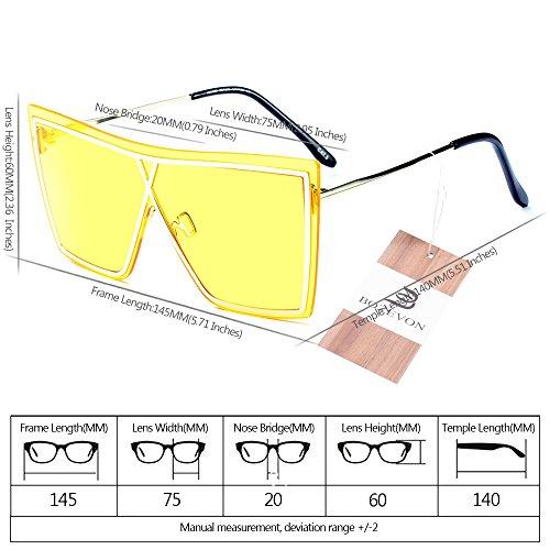 y de sol Mujer para Último Hombre 05 Estilo Gafas Unisex BOZEVON estilo UV400 de Verano 0g0Yqav