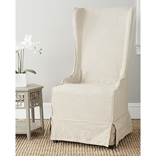 Safavieh Mercer Collection Stella Slip Cover for Side Chair, Ivory For Sale