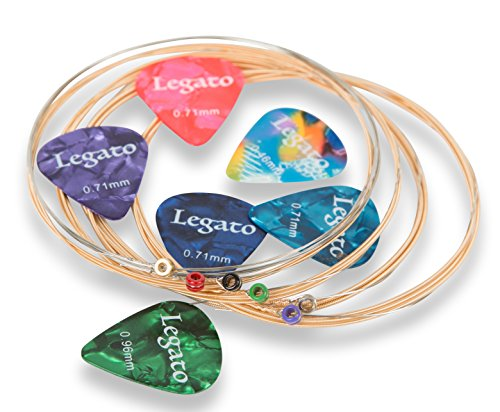 Legato Acoustic Guitar Strings Normal Light 11-52 (2 Pack) Beginner to Pro Level Nano-Coated 85/15 Bronze Bundle