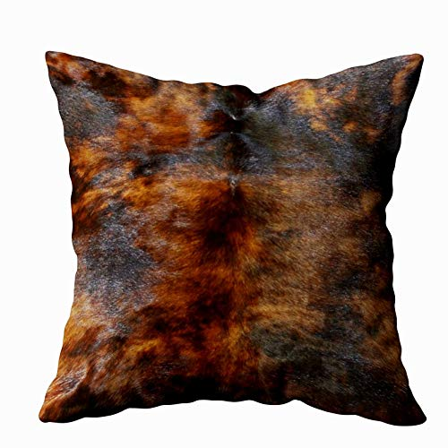 Shorping Zippered Pillow Covers Pillowcases 20X36 Inch Cowhide Simulated Leather Look Brown Black Decorative Throw Pillow Cover,Pillow Cases Cushion Cover for Home Sofa Bedding Bed Car Seats Decor (Simulated Leather Zippered)