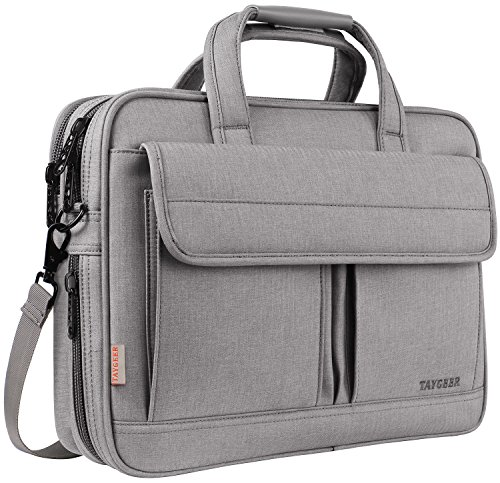 15.6 Laptop Case, Laptop Briefcase Bag for Men Women,Business Portable Carrying Messenger Bag,15 Inch Laptop & Tablet Attache for HP/Dell/Lenovo/Asus/Toshiba/Apple/Acer/Microsoft Surface, Gray