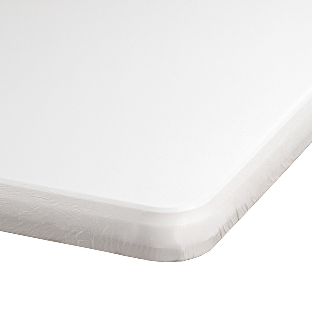 Hoffmaster 221111 Kwik-Cover Plastic Tablecover, 96'' Length x 30'' Width, White (Case of 25) by Hoffmaster