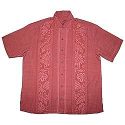Tommy Bahama Mens Light Weight Silk, Summer Camp Shirt XL Red