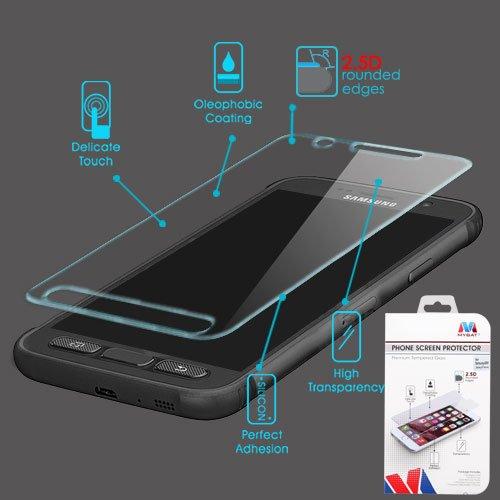 Mybat Screen - Galaxy S7 Active Screen Protector, Mybat Clear Tempered Glass LCD Screen Protector Shield Guard Film for Samsung Galaxy S7 Active