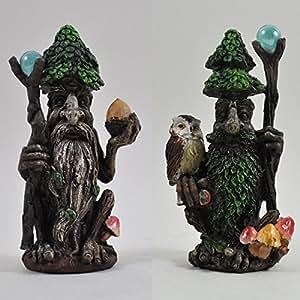 ENT par con magia personal Árbol Decorativo para Jardín Mito Escultura Estatua H14cm