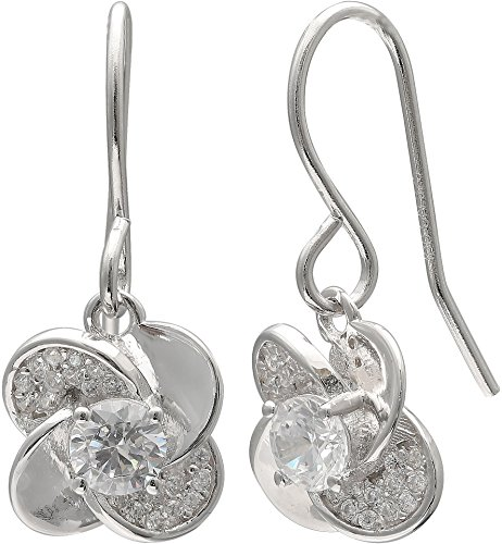 Florida Pinwheel (Silver Brilliance Pinwheel Dangle Earrings One Size Silver tone)