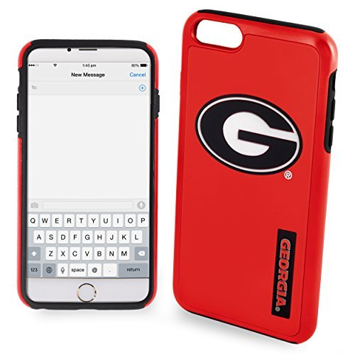 NCAA Georgia IPhone 6 Plus Dual Hybrid Case (2 Piece), Red by Forever