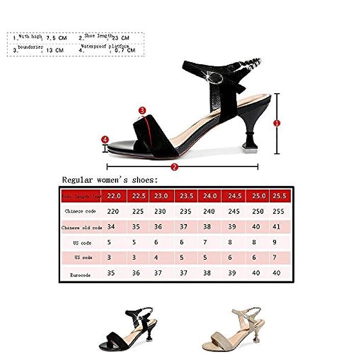 Gljxg Estate Femminile Con Sandali Tacco Alto A 2 Colori Opzionali Misura Opzionale