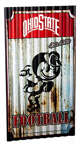 Evergreen Team Sports America Ohio State Buckeyes Corrugated Metal Wall Art, One Size