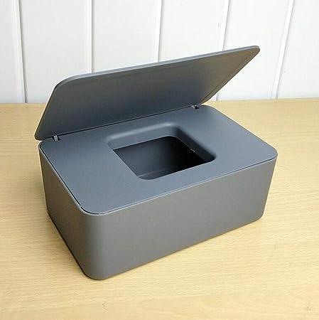 XLHZKAL Caja de pañuelos,Caja de pañuelos Caja de dispensador de toallitas húmedas Caja de Papel tisú húmeda Seca Caja de toallitas Toallitas Servilleta Caja de Almacenamiento Contenedor, Gris OSC: Amazon.es: Hogar