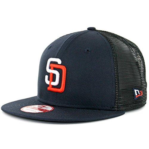 New Era 950 San Diego Padres Tony Gwynn 4 Trucker Snapback Hat Navy Mens MLB - Logo New Era Snap