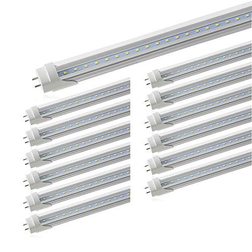 LED Direct Wire Tube Light 18W AC120-277V 3000K 4 Foot Tubes 25 Tubes