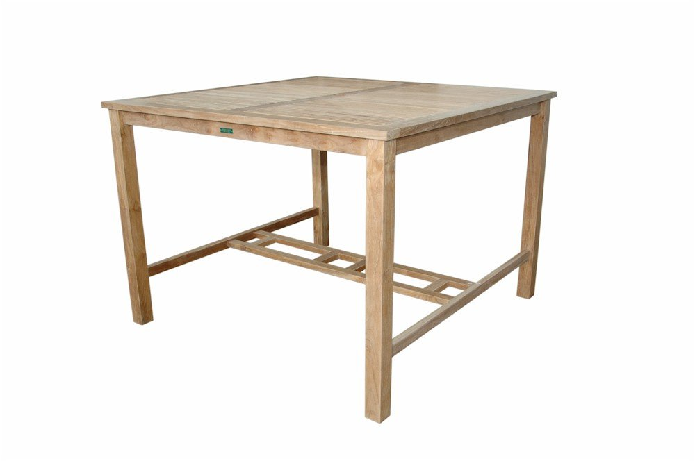 Amazon.com: Anderson Teak Windsor Square Bar Table, 59 Inch: Kitchen U0026  Dining