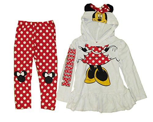 [Minnie Mouse Little Girls Costume Hoodie and Legging Set (4T)] (Little Girl Minnie Mouse Costumes)
