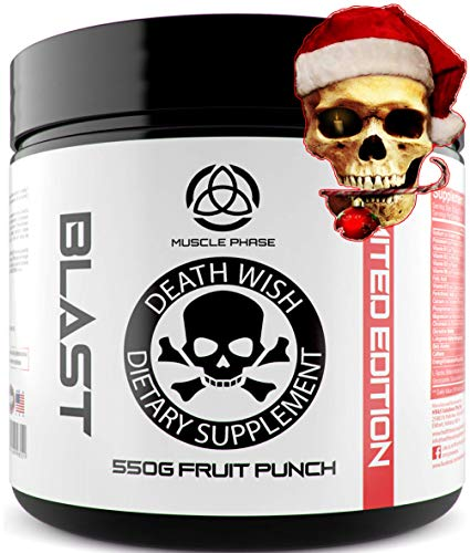 _ ANABOLIC PRE WORKOUT BLAST by DEATH WISH SUPPLEMENTS * Best Pre-Workout Supplement For Men And Women, The Gold Standard In Pre Gym Supplements, NO JITTERS, Extra Energy,Easy Mix