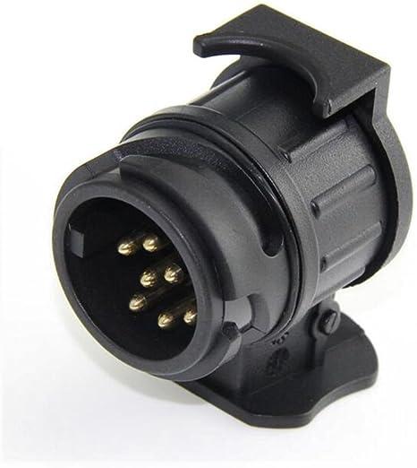 Adaptateur de remorquage 7 /à 13 broches de remorque de voiture Prise adaptateur de convertisseur de prise caravane Attelage connecteur de remorquage 12V