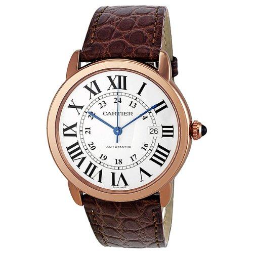 Cartier Jewels (Cartier Ronde Solo de Cartier XL Automatic Silver Dial 18 kt Rose Gold Mens Watch W6701009)
