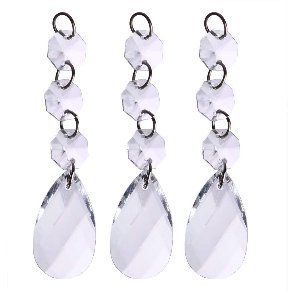 STORE-HOMER - 60pcs Acrylic Crystal bead luxury curtain Pendant Wedding decoration Home Partition