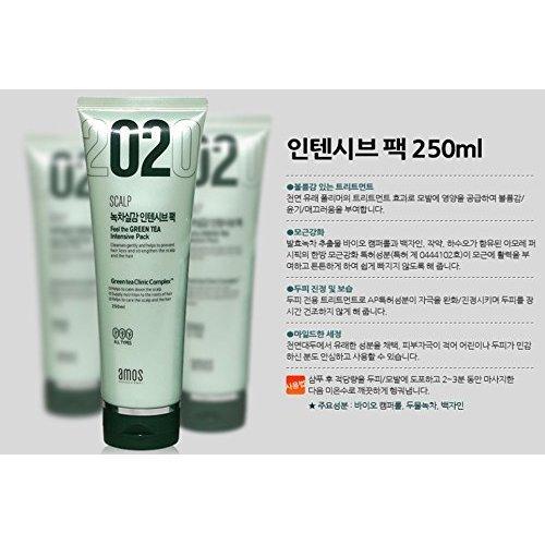 AMOREPACIFIC amos scalp feel the green tea intensive pack, made in Korea, Kstyle, anti hair fall 250ml